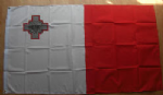 Malta Large Country Flag - 3' x 2'.